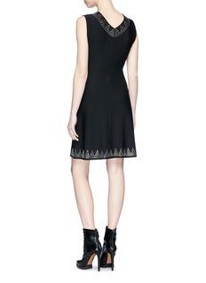 Alaïa Studded triangle sleeveless knit dress