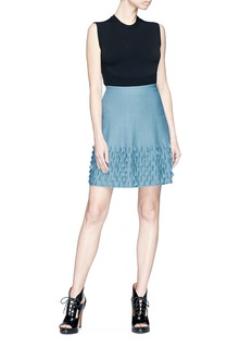 Alaïa 'Papillon' scalloped trim knit skirt