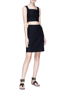 Alaïa Embossed knit skirt