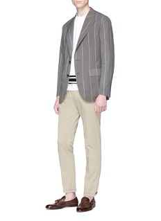 CAMOSHITA 条纹西服夹克