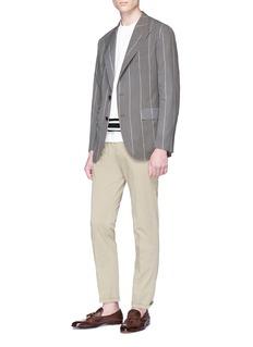 Camoshita Peaked lapel pinstripe soft blazer