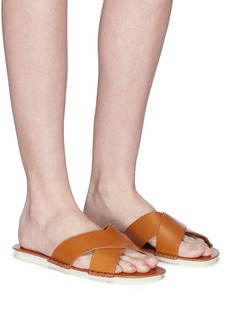 Vince 'Nico' cross strap leather slide sandals