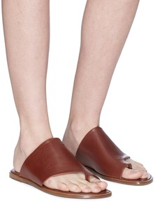 Vince 'Edris' toe ring leather slide sandals