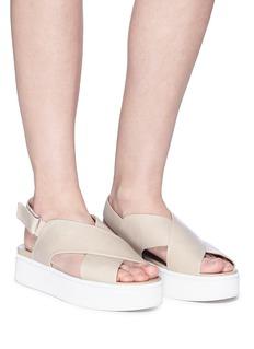 Vince 'Weslan' cross strap platform sandals