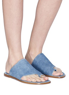 Vince 'Edris' toe ring suede slide sandals