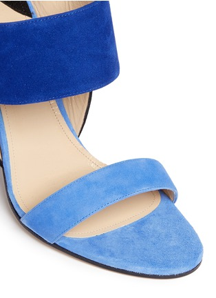 Detail View - Click To Enlarge - Paul Andrew - 'Xiamen' colourblock suede slingback sandals