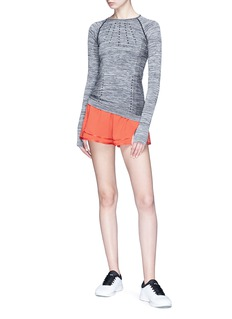 EleVen by Venus Williams 'Seamless Knit' long sleeve performance top