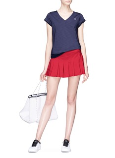 EleVen by Venus Williams 'Core Flutter' pleated skirt with compression short liner