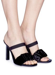 Mercedes Castillo 'Lynn' ruched velvet band sandals
