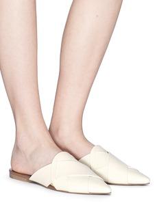 Mercedes Castillo 'Leive' basketweave leather slide sandals