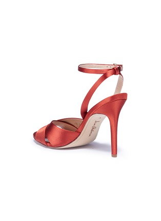 Detail View - Click To Enlarge - Sam Edelman - 'Aly' cross strap satin sandals