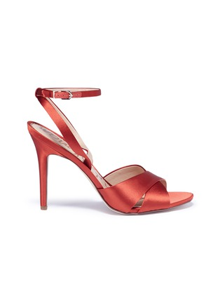 Main View - Click To Enlarge - Sam Edelman - 'Aly' cross strap satin sandals