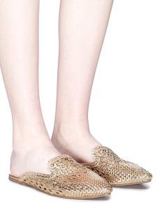 Sam Edelman 'Navya' open weave metallic leather slippers