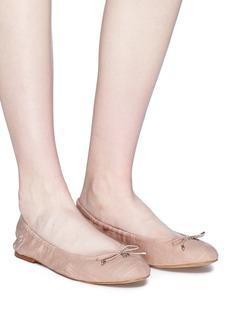SAM EDELMAN Felicia蝴蝶结亚麻芭蕾平底鞋