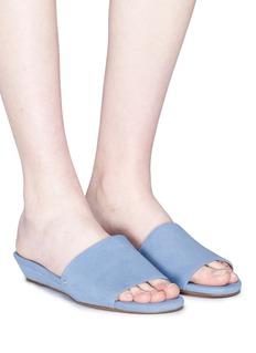 Sam Edelman 'Liliana' wedge suede slide sandals