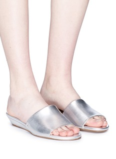 Sam Edelman 'Liliana' wedge metallic leather slide sandals