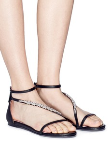 Pedder Red Jewelled strap leather sandals
