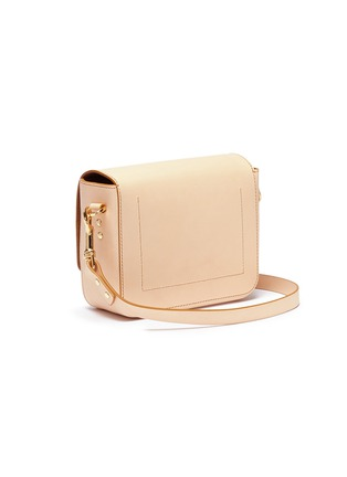 Detail View - Click To Enlarge - Sophie Hulme - 'Quick' small saddle leather crossbody bag