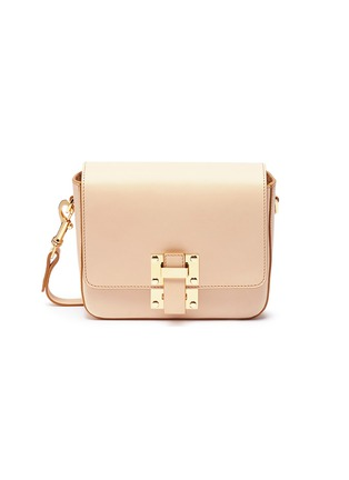Main View - Click To Enlarge - Sophie Hulme - 'Quick' small saddle leather crossbody bag
