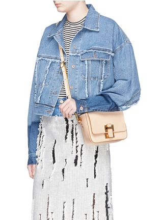 Figure View - Click To Enlarge - Sophie Hulme - 'Quick' small saddle leather crossbody bag