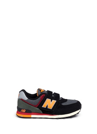 Main View - Click To Enlarge - New Balance - '574' strap suede kids sneakers