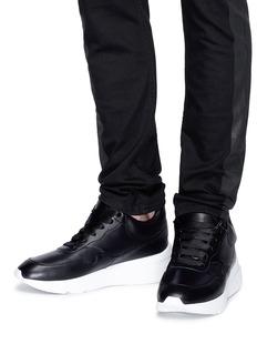 Alexander McQueen Leather wedge sneakers
