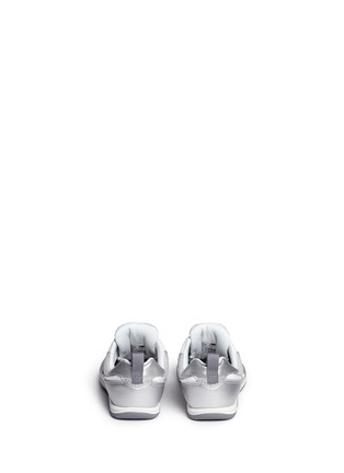 Back View - Click To Enlarge - New Balance - '574' metallic faux leather toddler sneakers