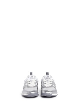 Figure View - Click To Enlarge - New Balance - '574' metallic faux leather toddler sneakers