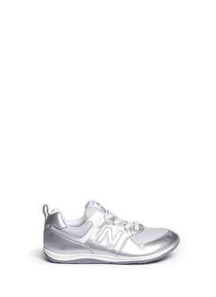 Main View - Click To Enlarge - New Balance - '574' metallic faux leather kids sneakers