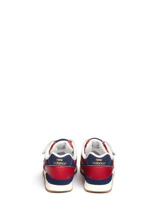 Back View - Click To Enlarge - New Balance - '996' strap tartan check kids sneakers