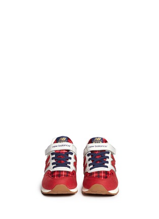 Figure View - Click To Enlarge - New Balance - '996' strap tartan check kids sneakers