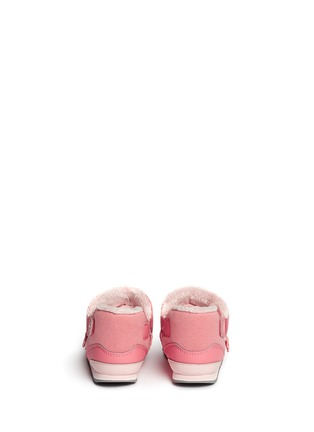 Back View - Click To Enlarge - New Balance - '996' strap jersey toddler booties