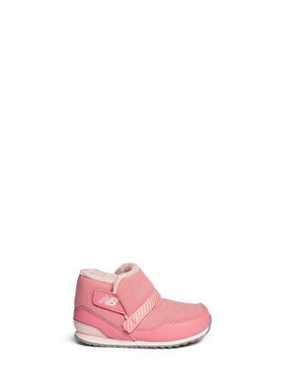 Main View - Click To Enlarge - New Balance - '996' strap jersey toddler booties