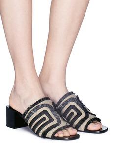 Mercedes Castillo 'Eladora' embroidered basketweave sandals