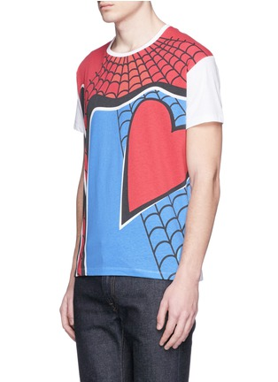 Front View - Click To Enlarge - Valentino - 'Super-H' Spiderman print T-shirt