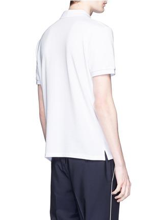 背面 - 点击放大 - VALENTINO - 铆钉装饰纯棉POLO衫
