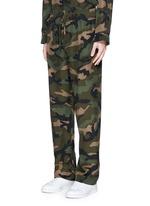 Camouflage silk pyjama set