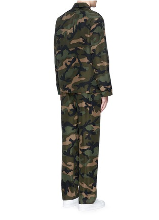 Back View - Click To Enlarge - Valentino - Camouflage silk pyjama set