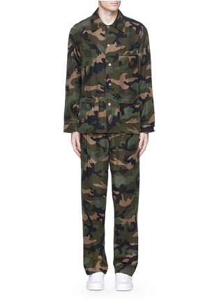 Main View - Click To Enlarge - Valentino - Camouflage silk pyjama set