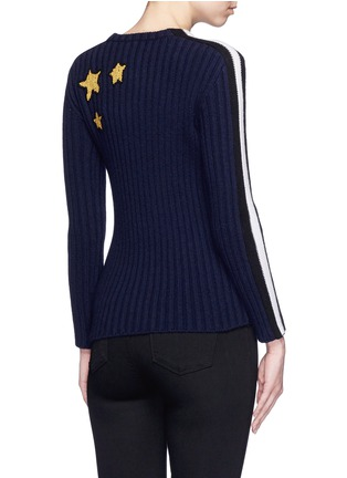 Back View - Click To Enlarge - Valentino - 'Super H' superman icon wool sweater