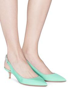 AQUAZZURA Portrait of Lady仿水晶点缀露跟鞋