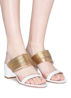Aquazzura 'Rendez Vous' metallic band leather sandals