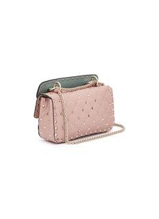 Valentino 'Rockstud Spike' floral embellished small leather crossbody bag