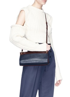 A-Esque 'Cylinder' colourblock leather crossbody bag