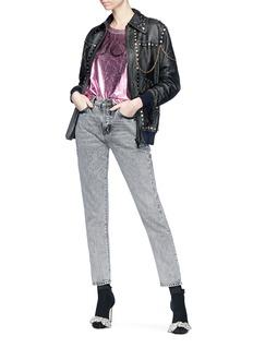 Gucci 'Venere' appliqué stud chain leather jacket