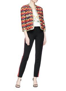 Gucci GG rhombus rainbow cropped hopsack jacket