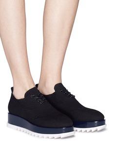 Pedder Red 'Tate' mixed knit platform sneakers