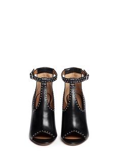 GIVENCHY'Elegant' stud leather T-strap sandals