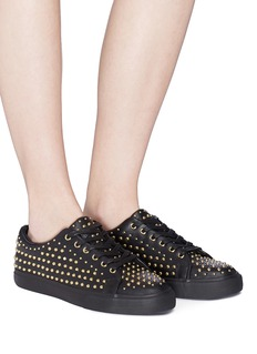 Pedder Red 'Jeff' stud pavé leather sneakers
