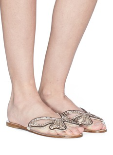 Sophia Webster 'Madame Butterfly' glass crystal embellished slide sandals